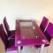 Masa sticla DT534 cu scaune X019S